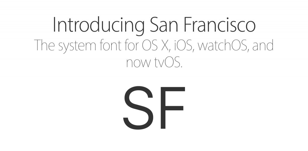 Apple San Francisco Font