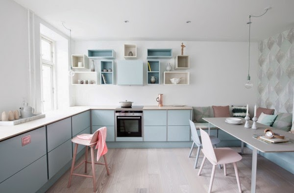 Pastel Kitchen Images by Lamų Slėnis, Italy Pantone Color of the Year 2016